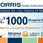 www.morrisathome.com/survey Morris Furniture Family of Stores Customer Satisfaction Survey $1000 Shopping Spree