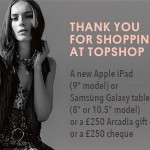 www.topshop.com/feedback Topshop Online Customer Feedback Survey One of the Three Prizes