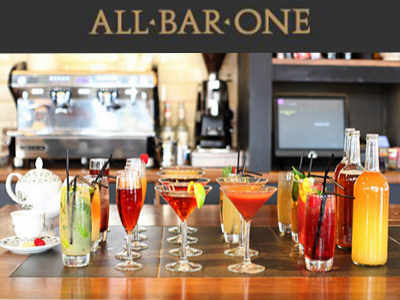 www.allbarone-survey.co.uk All Bar One Customer Survey Voucher for Free Treat