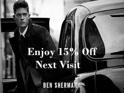 www.benshermanfeedback.com Ben Sherman Customer Satisfaction Survey 15% Discount Code