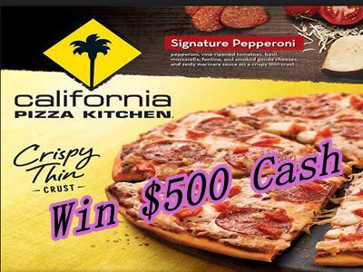 www.cpksurvey.com California Pizza Kitchen Guest Survey $500 Cash