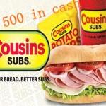 www.ratecousinssubs.com Cousins Subs Customer Experience Survey Empathica Cash Prizes