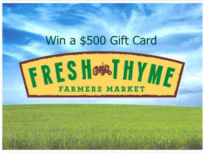 www.freshthyme.com/survey Fresh Thyme Farmers Market Customer Survey $500 Gift Card
