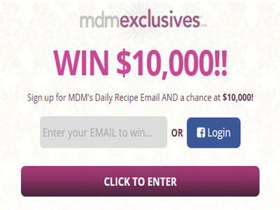 www.mdmexclusives.com MyDailyMoment Sweepstakes $10,000 Cash