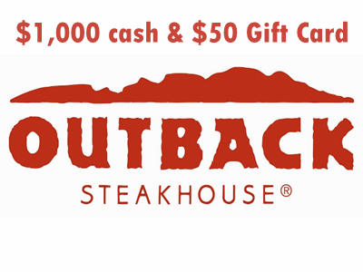 www.telloutback.com Outback Customer Indulgence Survey $1,000 Cash and $50 Gift Card
