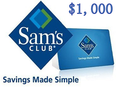 www.entry.survey.samsclub.com Sam's Club Sweepstakes Sam's Club $1,000 Gift Card