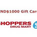 www.surveysdm.com Shoppers Drug Mart Customer Care Survey $1000 Gift Card