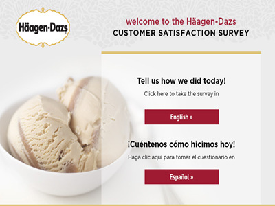www.ratehdshops.com the Häagen-Dazs Customer Satisfaction Survey Empathica Cash Prizes
