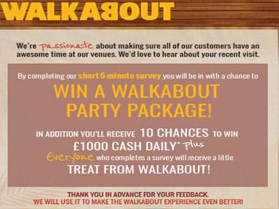 www.barrisaexperience.com Walkabout Customer Feedback Survey $1,000 Cash