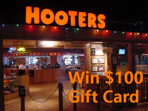 www.talktohooters.com Hooters Weekly Survey $100 Gift Card