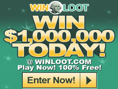 www.winloot.com/play Winloot Free Online Lotto Style Sweepstakes Up to $1,000,000 Cash