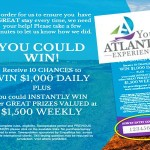 www.visiteatlanticvisit.com Your Atlantic Experience Online Survey Empathica Cash Prize