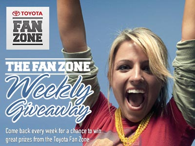 www.facebook.com/toyotafanzone Toyota Fan Zone Giveaways Various Prizes