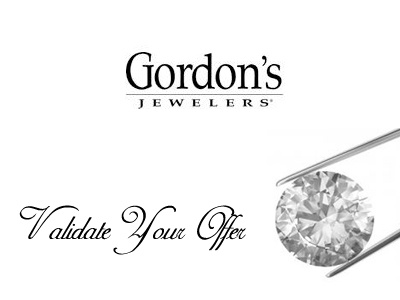 www.gordonssurvey.com Gordon's Jewelers Guest Experience Survey Validation Code