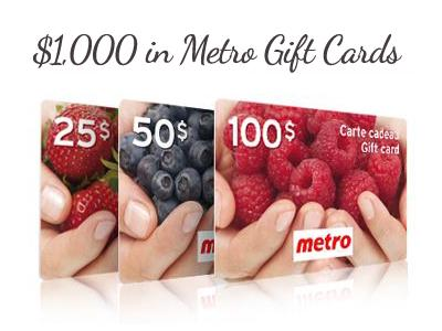www.metrosurvey.ca Metro Customer Satisfaction Survey $1,000 Metro Gift Cards
