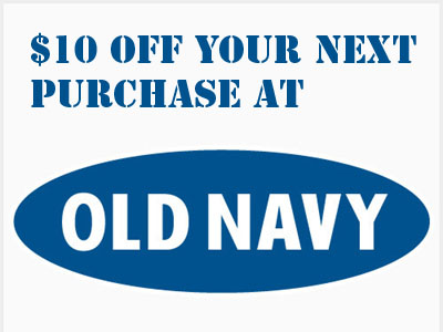www.survey4on.com Old Navy Customer Feedback Survey $10 Off Next Purchase
