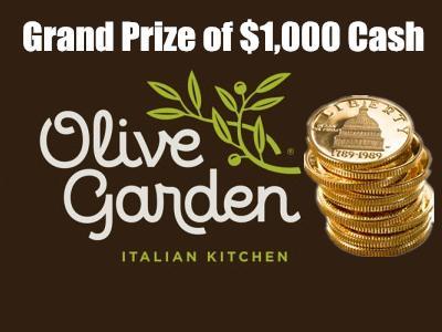 wwwolivegardensurveycom olive garden guest satisfaction survey 1000 cash - Oliver Garden Survey