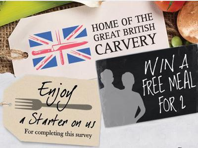 www.gbcfeedback.co.uk Great British Carvery Customer Feedback Survey Free Starter and Free Meal for 2