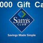 www.survey.samsclub.com Sam's Club Member Experience Survey $1000 Gift Card