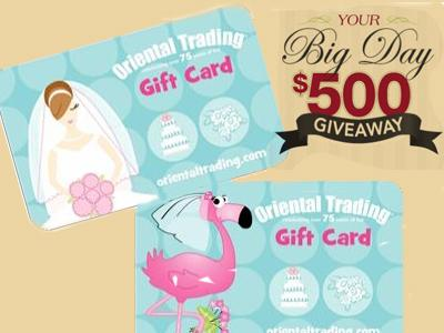 www.yourbigdaygiveaway.com Big Day Giveaway $500 OTC Gift Card